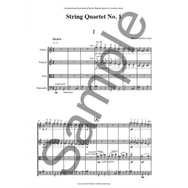 Gabriel Prokofiev: String Quartet No. 1