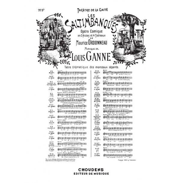 GANNE SALTIMBANQUES (LES) N° 9BIS VALSE CHANTÉE C'EST L'AMOUR SOPRANO