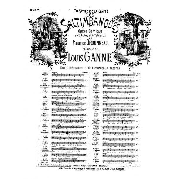 GANNE SALTIMBANQUES (LES) N° 15A CHANSON MILITAIRE QUAND LA TROMPETTE