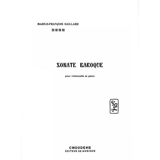 GAILLARD SONATE BAROQUE VIOLONCELLE ET PIANO