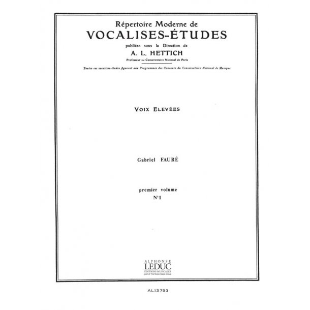 Gabriel Fauré: Vocalise No.1 (high) (Voice & Piano)