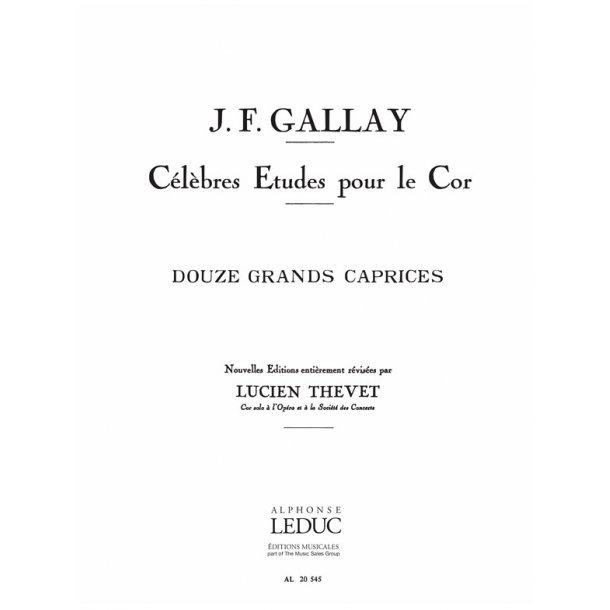 Gallay Thevet 12 Grands Caprices Op 32 Horn Book