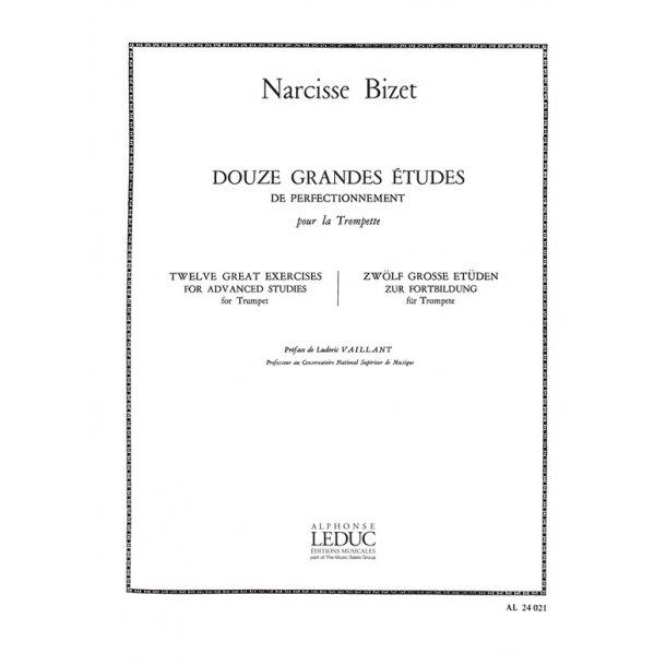 Narcisse Bizet: 12 Grandes Etudes de Perfectionnement (Trumpet solo)