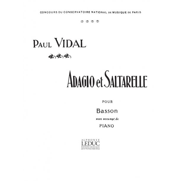 Paul Vidal: Adagio et Saltarelle (Bassoon & Piano)
