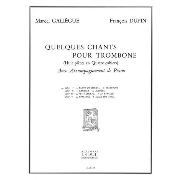Galiegue Quelques Chants Vol 1 Fleur De Choral Trialogue Tbn & Pf Bk