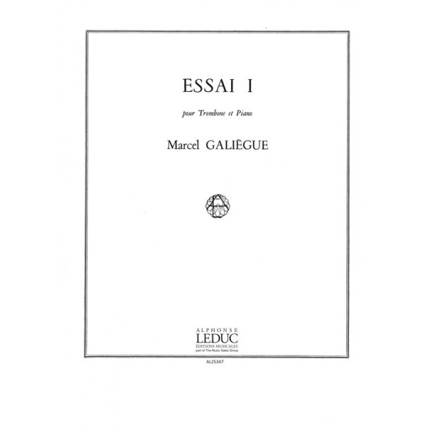 Galiegue Essai 1 Trombone & Piano Book