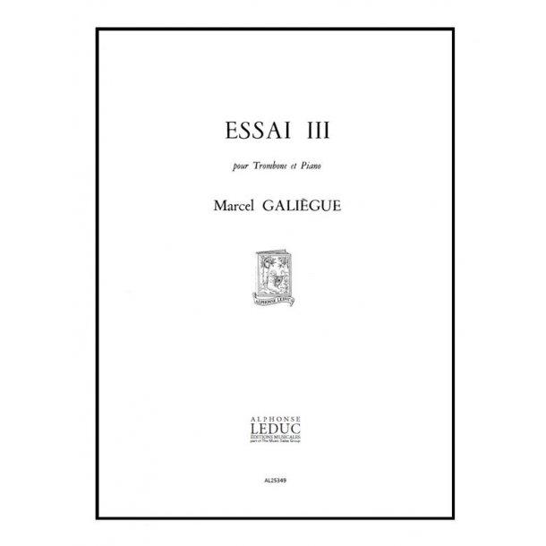 Galiegue Essai 3 Trombone & Piano Book