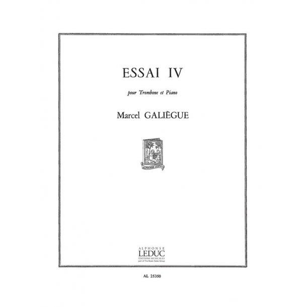 Galiegue Essai 4 Trombone & Piano Book