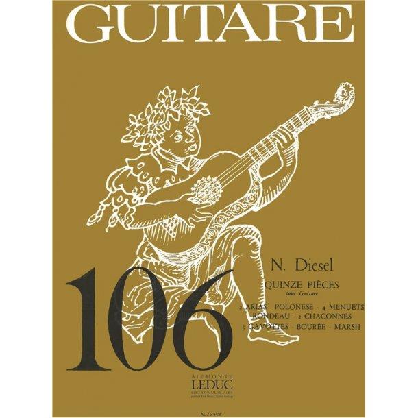 Nathanael Diesel: 15 Pièces (coll. Guitare No.106) (Guitar solo)
