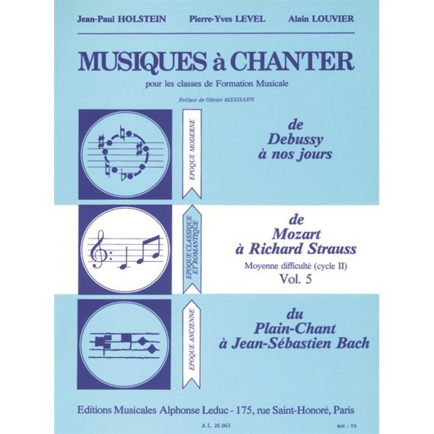 Musiques A Chanter Cycle 2 Niveau Moyen/Volume 5 (Mozart A Strauss)