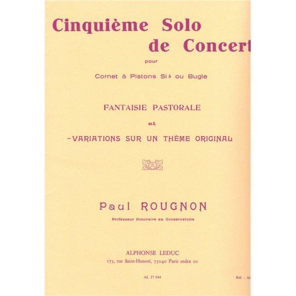 Paul Rougnon: Solo de Concert No.5: Variations sur un Thème original (Trumpet & Piano)