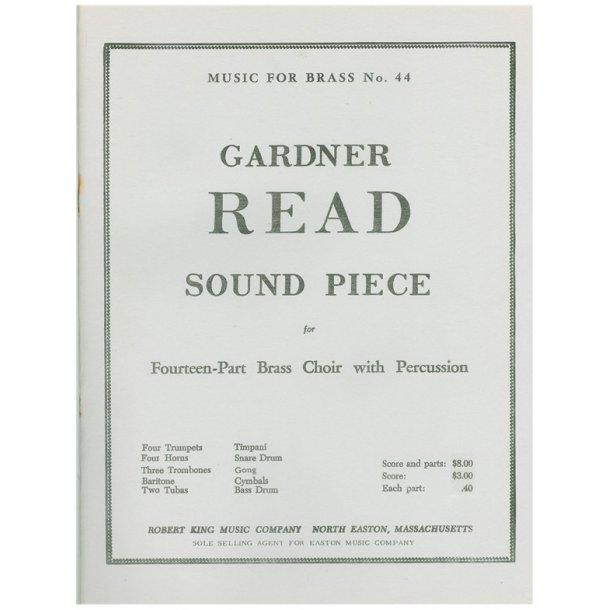 Gardner Read: Sound Piece (Ensemble-Brass 8 or more)