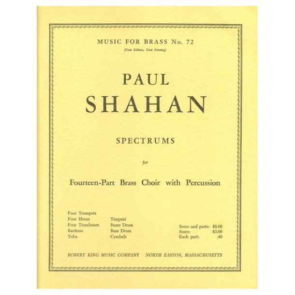 Paul Shahan: Spectrums (Ensemble-Brass 8 or more)