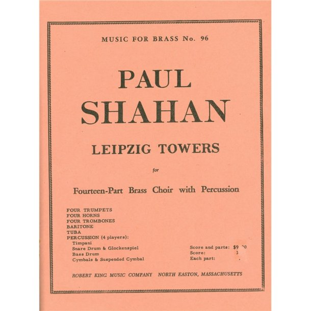 Paul Shahan: Leipzig Towers (Ensemble-Brass 8 or more)
