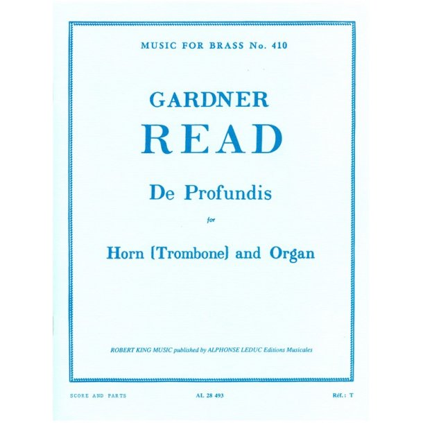 Gardner Read: De Profundis (Horn and Organ)