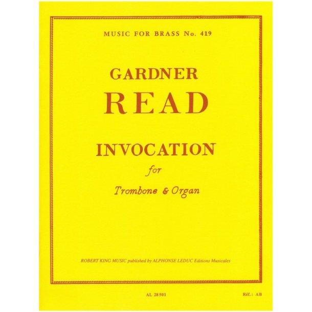 Gardner Read: Invocation (Trombone & Organ)