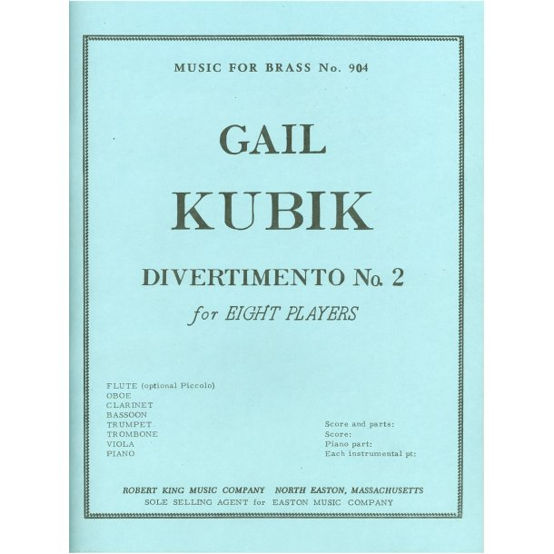 Gail Kubik: Divertimento No.2 (Ensemble-Mixed 8 or more)
