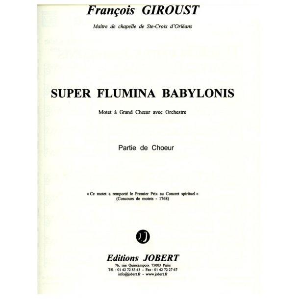 Giroust Prim Super Flumina Babylonis Soli Satbb & Orchestra Parts