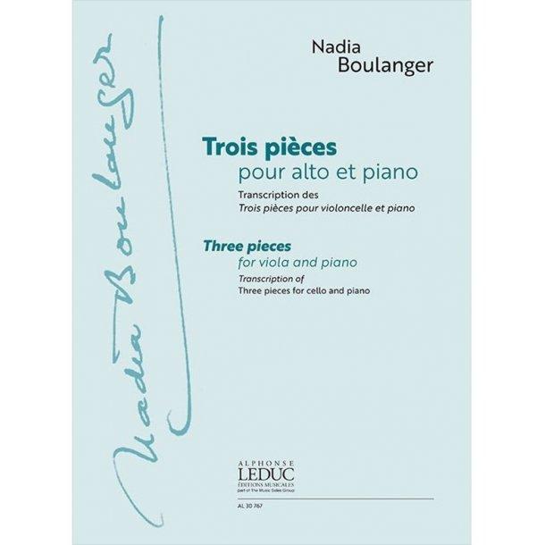 Nadia Boulanger: Trois Pièces Pour Alto Et Piano