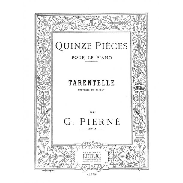 Gabriel Pierné: Tarentelle Op.3, No.15 in A minor (Piano solo)