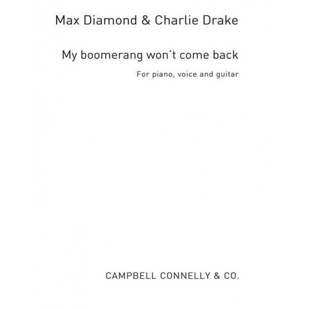 My Boomerang Won't Come Back Pvg (Diamond/Drake)