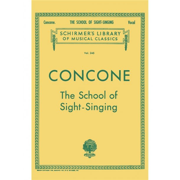 Giuseppe Concone: The School Of Sight-Singing