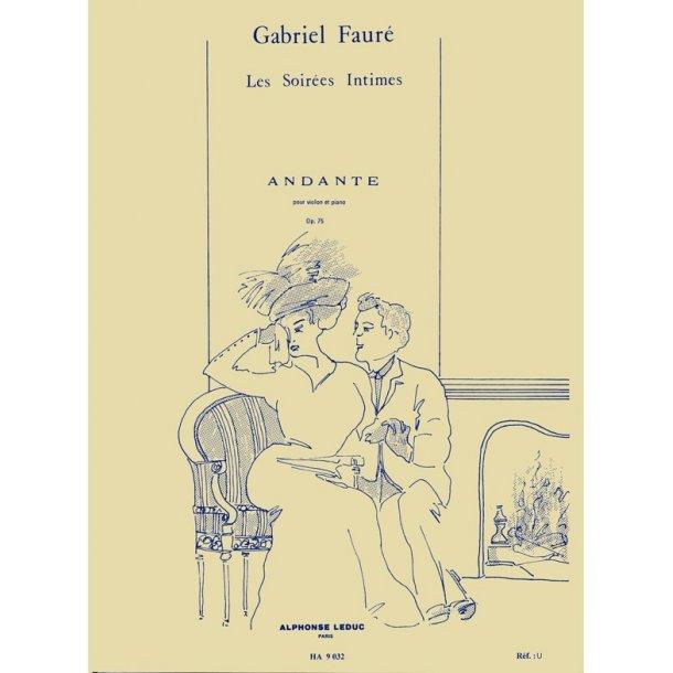 Gabriel Faure: Andante Op.75 (Violin/Piano)