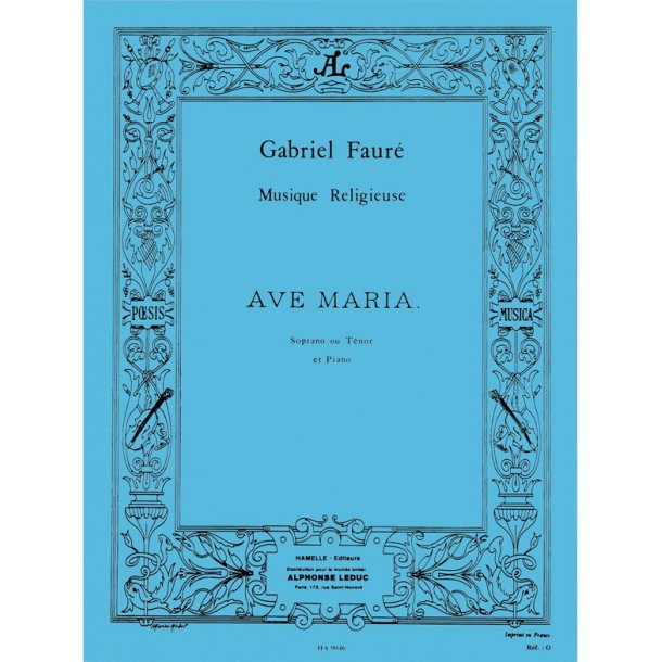 Gabriel Fauré: Ave Maria Op.67, No.2 (sop/ten) (Voice & Piano)