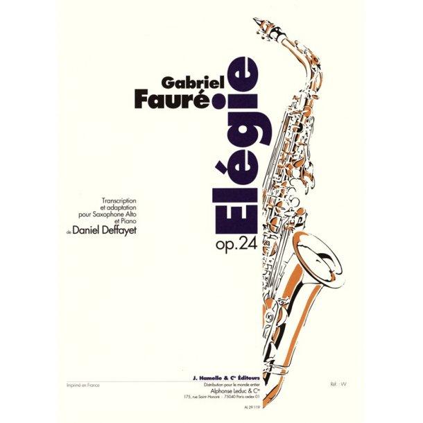 Gabriel Fauré: Elégie Op.24 (Saxophone-Alto & Piano)