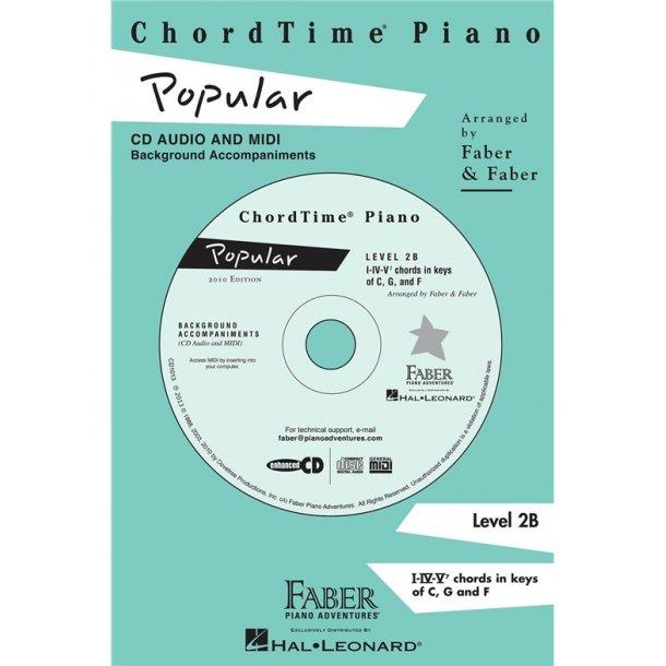 Nancy & Randall Faber: ChordTime Piano Popular CD (Level 2B)