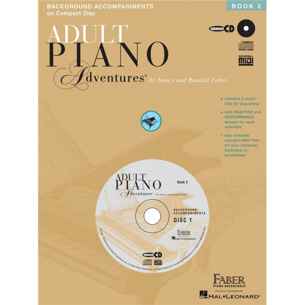 Nancy And Randall Faber: Adult Piano Adventures All-In-One Lesson Book Two (CDs Only)