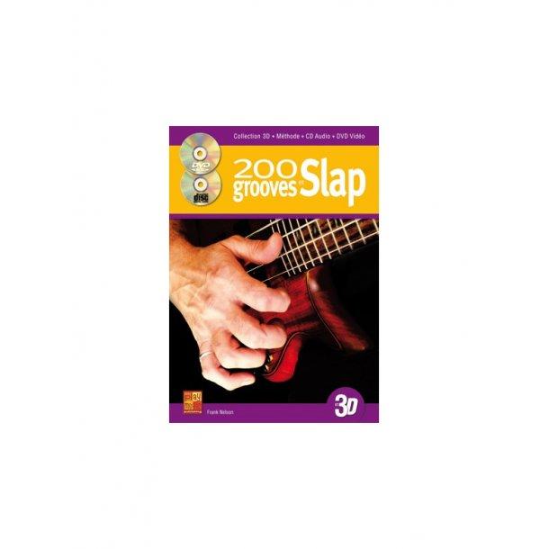 Nelson Frank: 200 Slap Grooves (Book/CD/DVD)