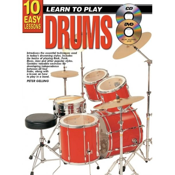 10 Easy Lessons: Teach Yourself Drums