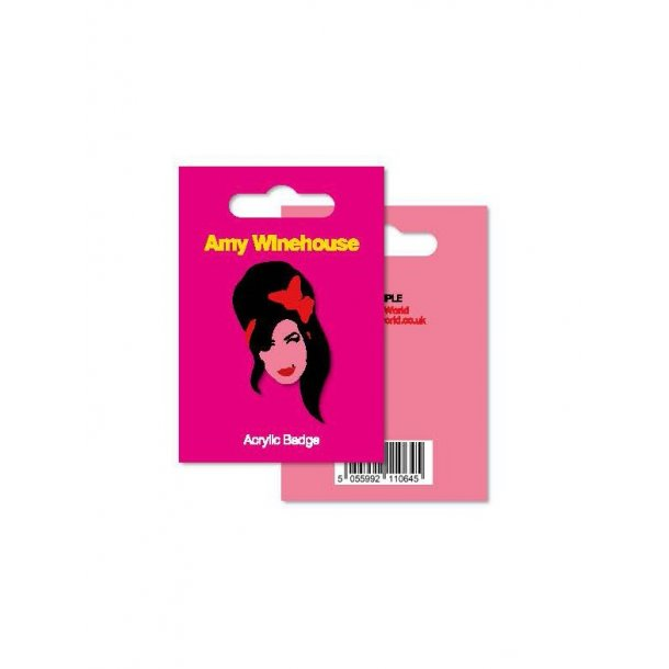 My World: Acrylic Badge - Amy Winehouse