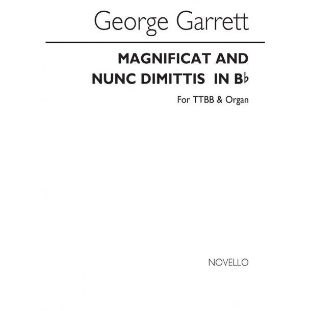GARRETT G MAGNIFICAT AND NUNC DIMITTIS IN Bb TTBB & ORGAN CHORAL