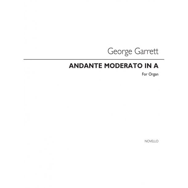Garrett Andante Moderato In A Organ