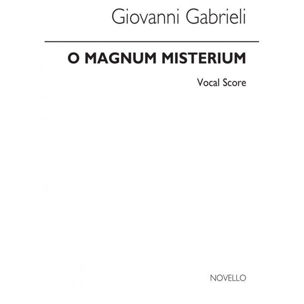 Galmili O Magnum Misterium Satb/ Organ
