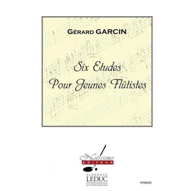 Garcin 6 Etudes Pour Jeunes Flutistes Flute Book