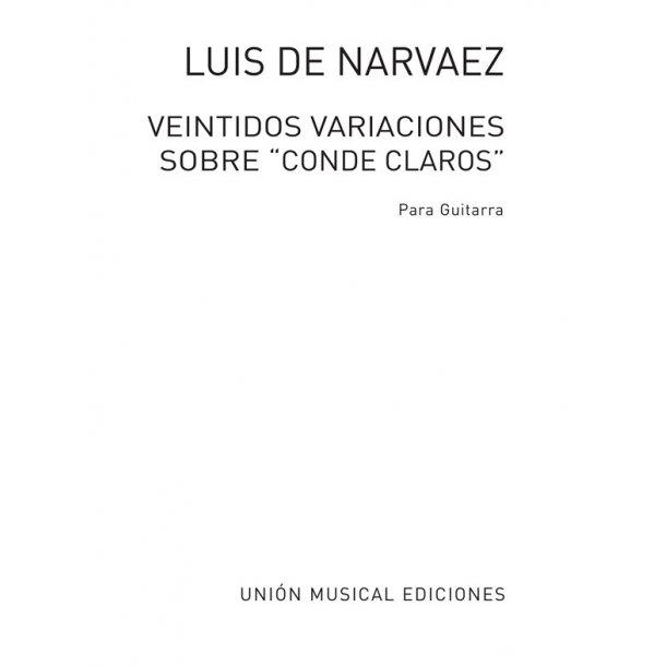 Narvaez: Veintidos Variaciones Sobre Conde Claros (Tarrago) for Guitar