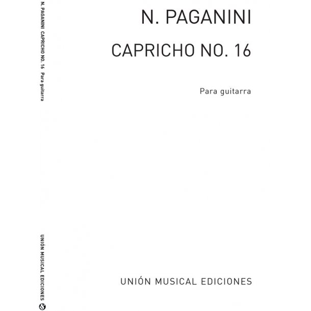 Niccolo Paganini: Caprice No.16 For Guitar