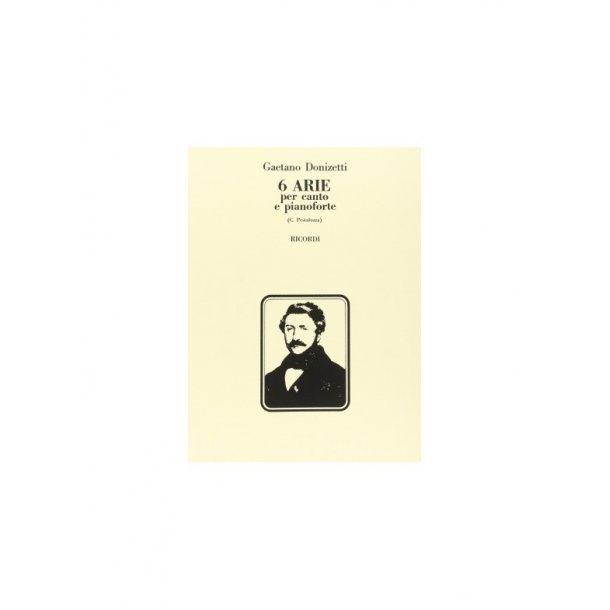 Gaetano Donizetti: 6 Arie Per Canto E Pianoforte