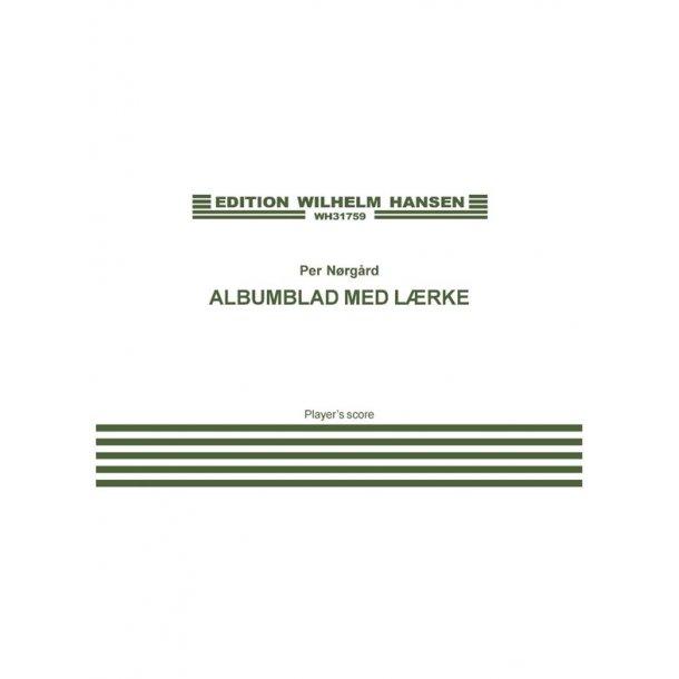 Nãrg·rd Albumblad Med Lïrke Sc
